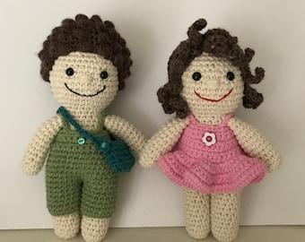 JJ Couple, Crochet Doll, Amigurumi, Doll, Toy