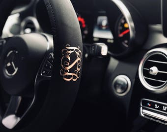 Monogram Steering Wheel Cover
