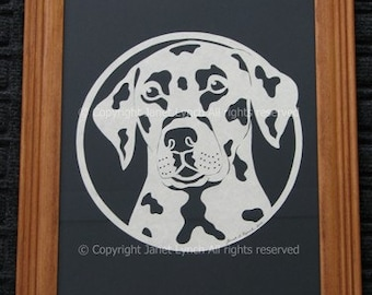 Choose Your Dog Breed -  Scherenschnitte Paper Cutting Art -Dogs - Hand Cut and Framed  Art By Janet Lynch