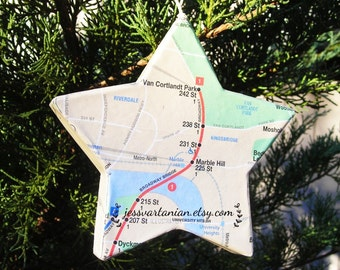 NYC Subway Custom handmade Star Ornament
