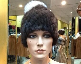 Mink knit hats