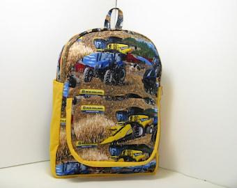 New Holland Tractors & Harvestors Preschool Backpack