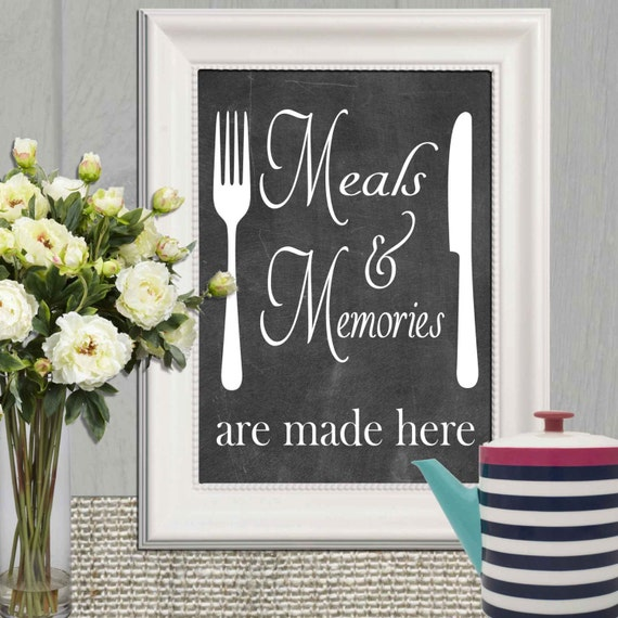 15 Whimsical Kitchen Designs With Chalkboard Wall: Kitchen Decor Print Chalkboard Kitchen Quote Printable Kitchen