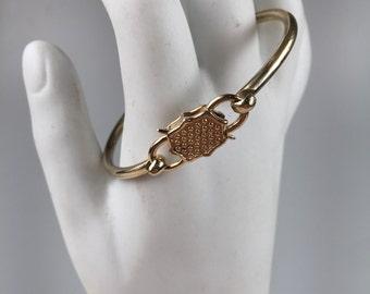 Bronze padlock cuff