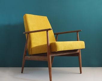 Vintage Armchair form Mid Century, Mustard, Restored