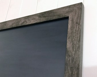 Chalkboard, Large Framed Dry Erase Board, 36 x 24 Framed Dry Erase Chalkboard, Optional Magnetic Upgrade