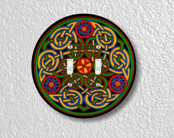 Celtic Knot Round Double Toggle Switch Plate Cover