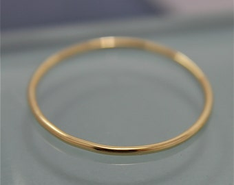 18k Gold Ring SOLID Yellow Gold 1mm Thin  Stacking Band Ring Smooth Shiny Finish Eco Friendly Recycled Gold