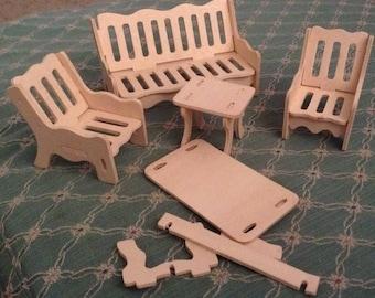5 piece dollhouse Furniture Set