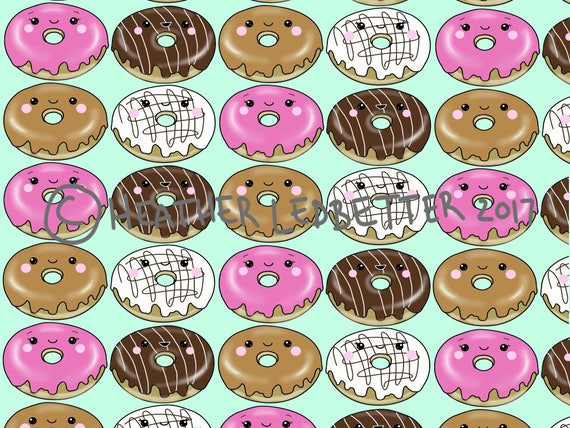 Kawaii Donuts Wallpaper Cute Background
