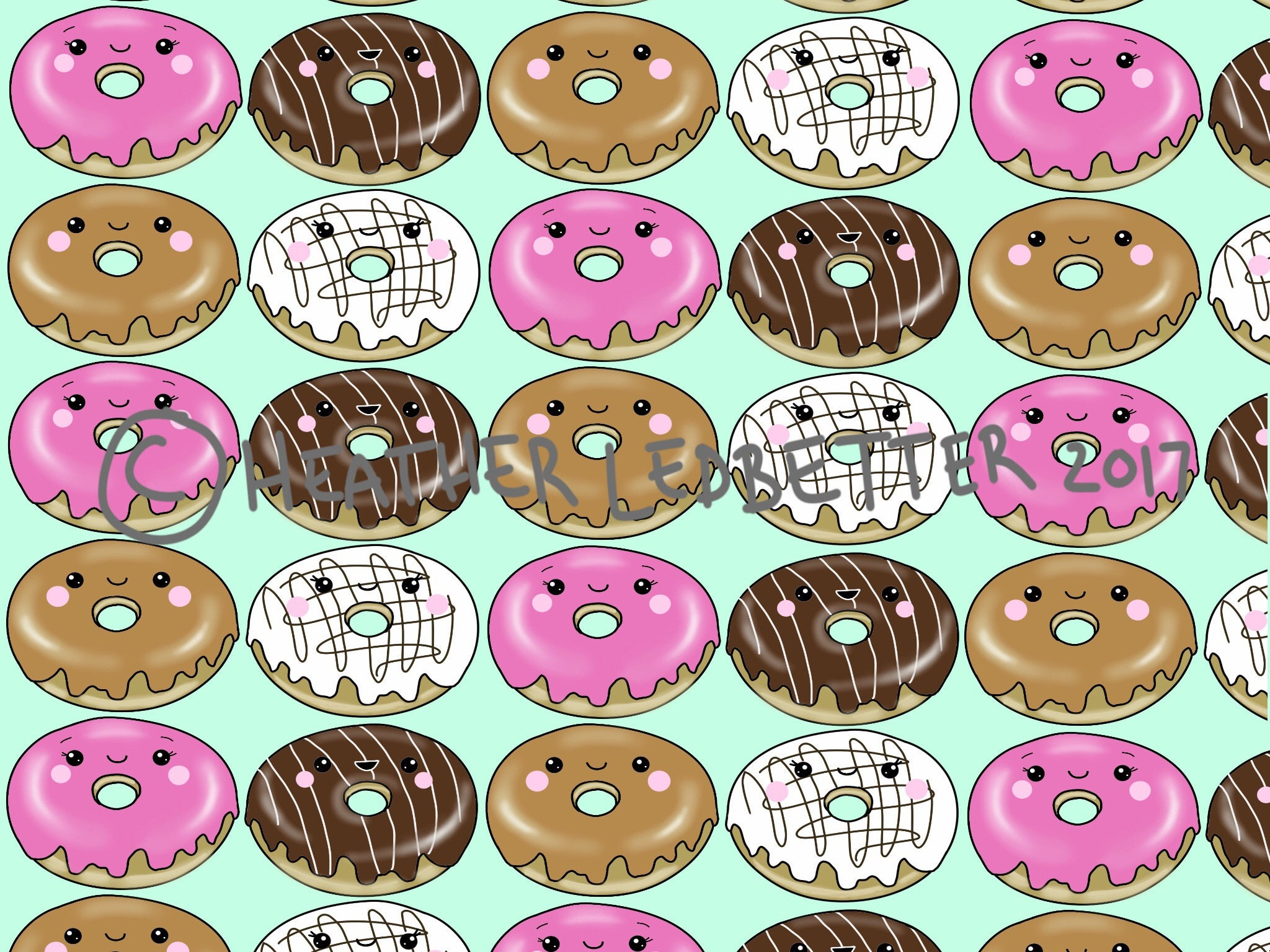Kawaii Donuts Hintergrundbilder Donuts Kawaii niedlich