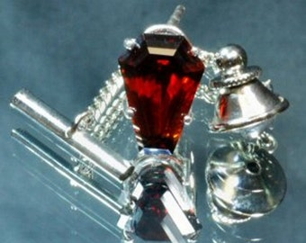 Coffin Gem - 3ct and 5ct  -  TIE or LAPEL PIN