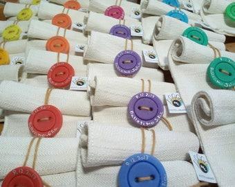 Sacchetti Confetti Bomboniere Personalizzati con nomi Matrimonio Comunione Battesimo fatto a mano chiudi sacchetto segnaposto confettata