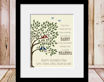 GIFT for FATHER'S DAY, Father's Day Gift for Grandpa, Father's Day Gift, Print for Father's, Father's Day Print, Wall Print for Dad