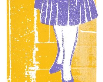 Peggy Olson's Party Dress - Mad Men Screen Print by Print Mafia