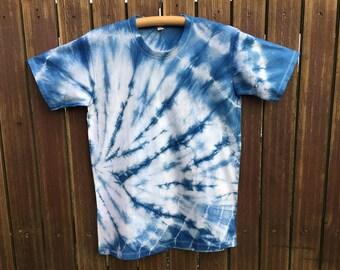 GroB Hand Dyed Indigo Batik T Shirt No. 1, M