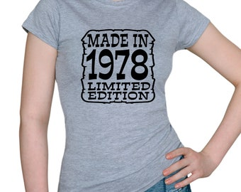 40th.birthday * Made in 1978 Limited edition * Men's/Women's T-shirts