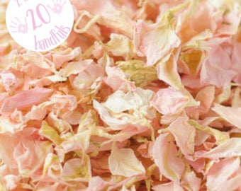 2 Litres approx 20 guests Natural Wedding Confetti Eco-Friendly Biodegradable Dried Delphinium Petals Candy, rustic pink