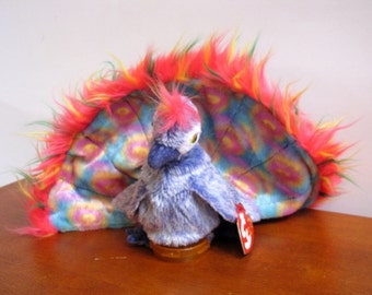 Peacock Beanie Puppet by The Puppet Patch