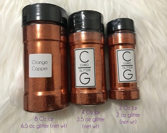 Polyester Glitter - Shaker Jar - Orange Copper