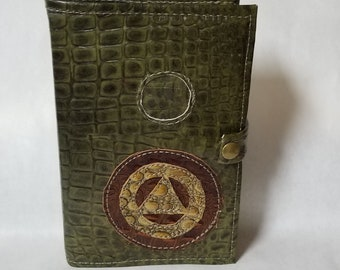 Leather Alcoholics Anonymous Hardback big book cover