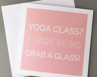 Fitness cards etsy yoga cards yoga stationery fitness cards fitness card namaste friend card birthday card gin card m4hsunfo