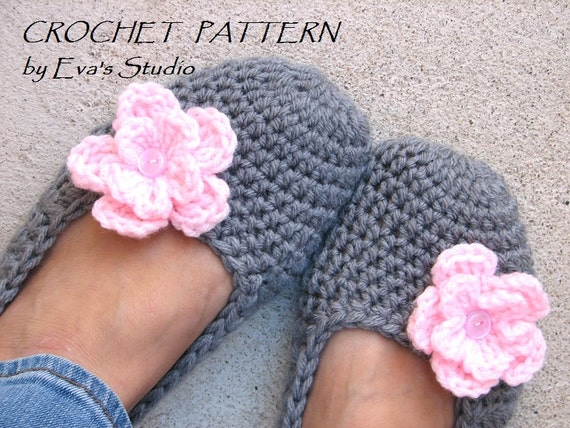 Crochet Pattern Adult Slippers Easy Great For Beginners