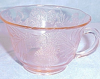 Thistle by Macbeth-Evans Pink Depression Glass Cup