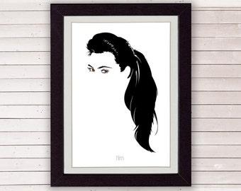 kim kardashian art, minimalist poster, minimal wall art