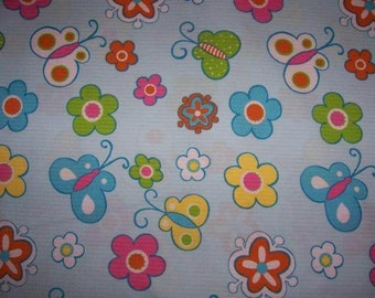 Euro Import Mariposa Butterfly Floral Fabric Stenzo Hilco 1 yard