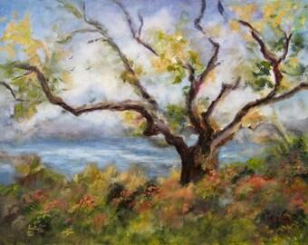 Painting Landscape Countryside, Original Painting, Landscape Oil Painting, Wall art, Home Decor,Rural Landscape,