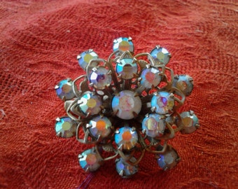 Rhinestone Scatter Pin, Vintage 50s Costume Jewelry ECS