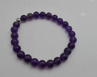gemstone bracelet for calm, to overcome the grief, the Amethyst, jewel of protection, semi precious gems, Crystal healing