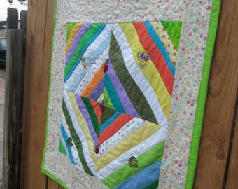 How does your garden grow baby (lap) Quilt