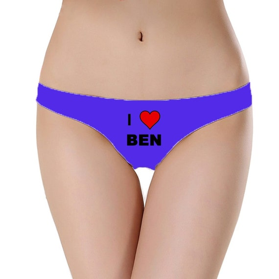 i love custom underwear funny underwear custom panties custom clothing custom knickers valentine underwear custom name