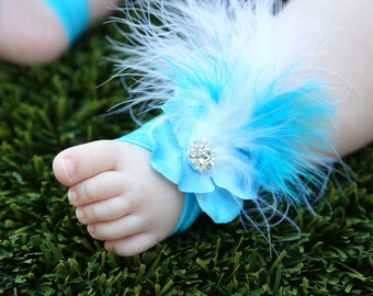 Baby Barefoot Sandals ~ Flower Sandals ~ Toddler Sandals ~ Newborn Sandals ~ Baby Shower, Newborn gift, baby sandals, baby gift, baby girl