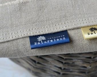 Fabric labels 200 pcs Custom Color Satin Clothing Labels Delivered CUT