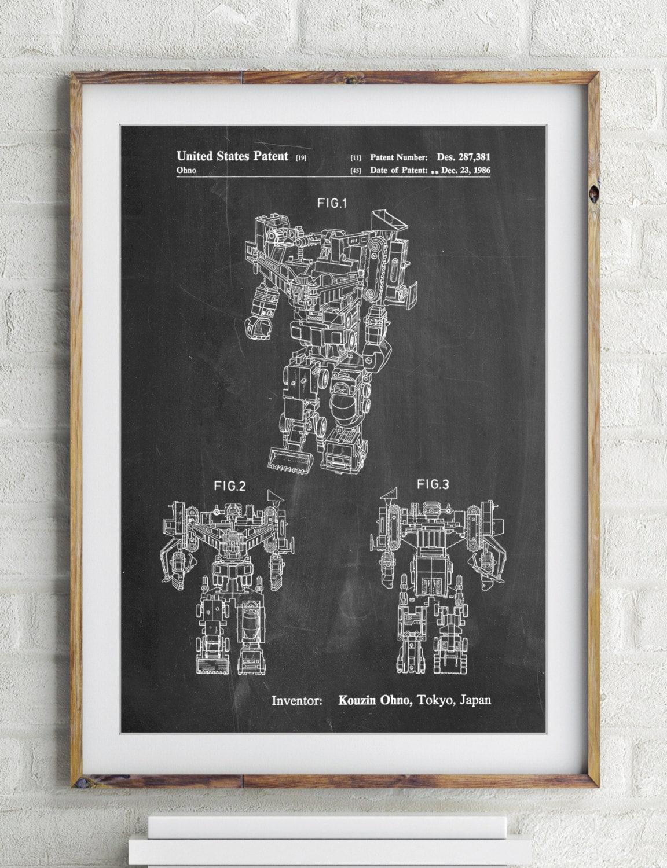 Verwüster Patent Poster 80er Jahre Retro-Spielzeug Vintage