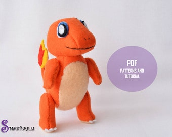 Pokemon Charmander Toy Sewing Patterns and Tutorial