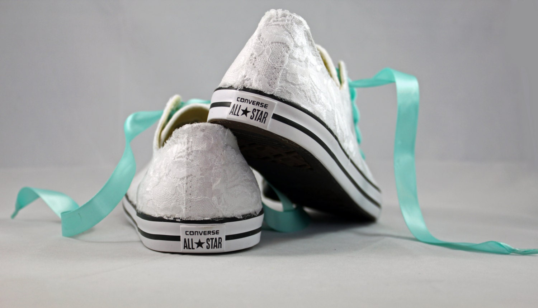 Lace Converses Bridal Converses Wedding Tennis Shoes