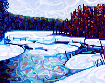 Fine Art Poster Print of an Original Abstract Acrylic Painting - Thaw