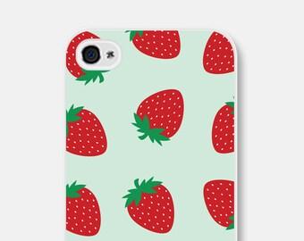 iPhone 6 Case Strawberry Samsung Galaxy S6 Case Strawberries iPhone 5 Case Fruit iPhone 6s Case Mint iPhone 5s Case Fruit iPhone 5c Case