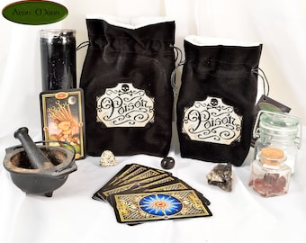 Poison - All Natural Cotton Velvet and Silk Tarot, Oracle, or Crystal bag