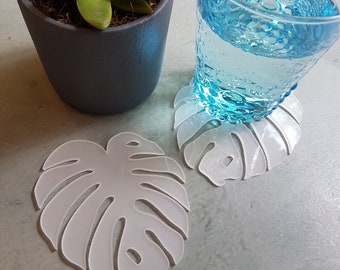 Delicious Monster Coaster   Opal White Perspex
