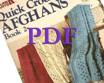 PDF - Quick Crochet Afghans Book 2, 1988, 4 designs