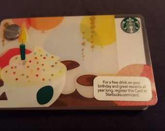 Starbucks Upcycled Refillable Giftcard Notebook - 2012 Happy Birthday
