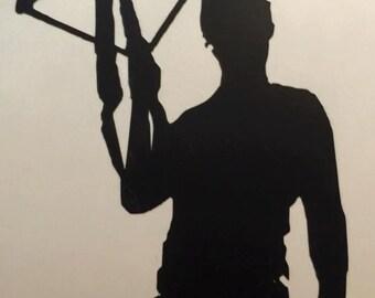 Daryl Dixon Vinyl Decal- Car Decal- Yeti Decal- Daryl Dixon - TWD Decal- The Walking Dead - Silhouette Decal