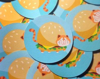 Cheeseburger Cat Sticker
