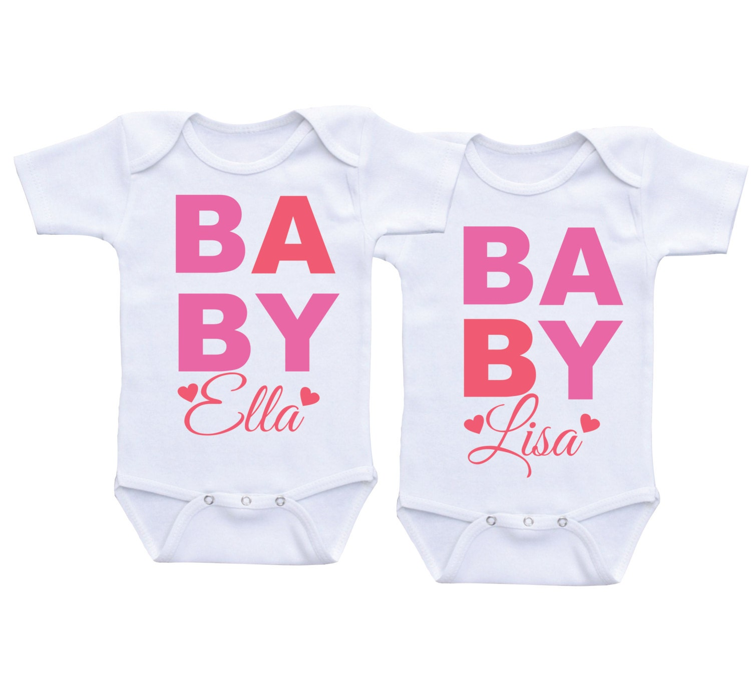 Cute Twin esie for baby girlsTwins esie Clothing for