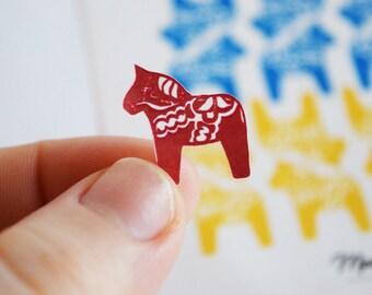 Dala Horse Stickers | Scandinavian Mail Stickers | Scrapbooking | Crafts | Card Extras | Fun Swedish Horses